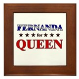 FERNANDA for queen Framed Tile