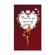 Pin-Up Secret Garden Rectangle Decal