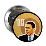 Obama '08 Political Buttons, Ten Pack