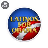 "Latinos For Obama 3.5"" Button (10 pack)"
