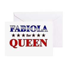 FABIOLA for queen Greeting Card