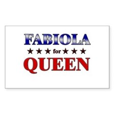 FABIOLA for queen Rectangle Decal