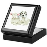 Great Pyr Pup and Lamb Keepsake Box
