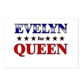 EVELYN for queen Postcards (Package of 8)