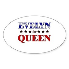 EVELYN for queen Oval Decal
