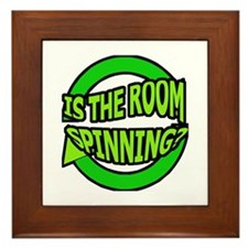 Is The Room Spinning? Framed Tile
