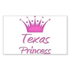 Texas Princess Rectangle Decal