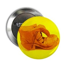 "Old Shoe Yellow 2.25"" Button"