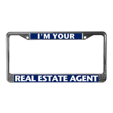 I'M YOUR AGENT (Teal Blue) License Plate Frame