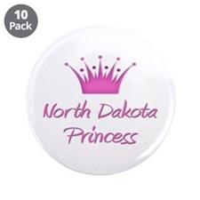 "North Dakota Princess 3.5"" Button (10 pack)"