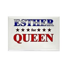 ESTHER for queen Rectangle Magnet