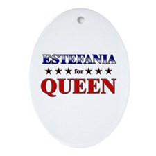 ESTEFANIA for queen Oval Ornament