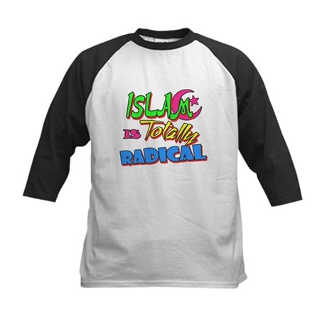 Islam Is Totally Radical Kids Baseball Jersey