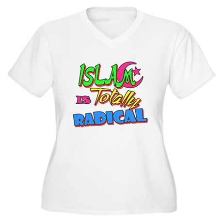 Islam Is Totally Radical Womens Plus Size V-Neck