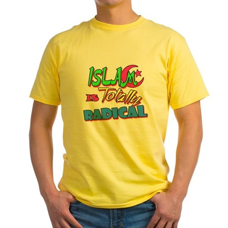 Islam Is Totally Radical Yellow T-Shirt