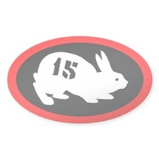 Bunny 15 Oval Decal