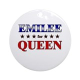 EMILEE for queen Ornament (Round)