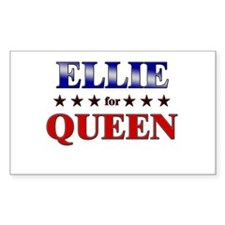 ELLIE for queen Rectangle Decal