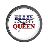 ELLIE for queen Wall Clock