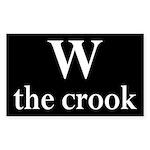 W the crook (bumper sticker)