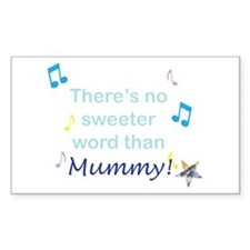 Blue Mummy Rectangle Stickers