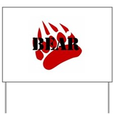 BEAR/RED PAW Yard Sign