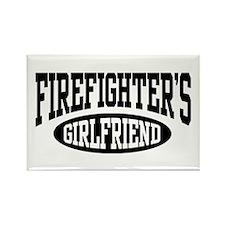 Firefighter's Girlfriend Rectangle Magnet