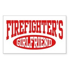 Firefighter's Girlfriend Rectangle Decal