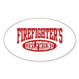 Firefighter's Girlfriend Oval Decal