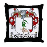 Donovan Coat of Arms Throw Pillow