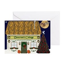 Donovan's Irish Cottage Christmas Cards (Pk of 10)