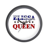 ELISSA for queen Wall Clock
