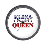 ELISA for queen Wall Clock