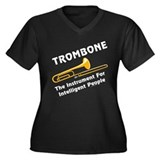 Trombone Genius Women's Plus Size V-Neck Dark T-Sh
