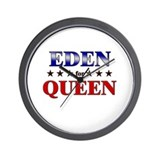 EDEN for queen Wall Clock