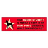 Min Pin World Domination Bumper Bumper Sticker