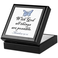 Matthew 19:26 Keepsake Box