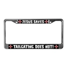 Jesus Saves License Plate Frame