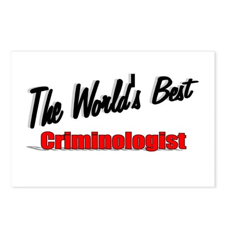 """The World's Best Criminologist"" Postcards (Packag"