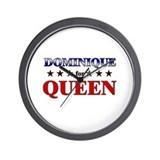DOMINIQUE for queen Wall Clock