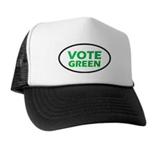 Vote Green Oval Trucker Hat