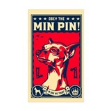 Obey the Min Pin! USA Rectangle Decal