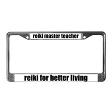 Reiki Master Better Living License Plate Frame
