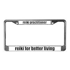 Reiki Better Living License Plate Frame
