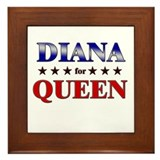 DIANA for queen Framed Tile