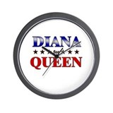 DIANA for queen Wall Clock