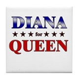 Diana for queen Drink Coasters