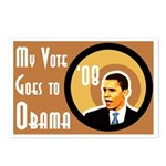 My Vote Goes To Obama Postcards (Eight)