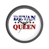 DEVAN for queen Wall Clock