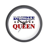 DESIREE for queen Wall Clock